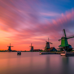 Sunset in Zaanse Schans