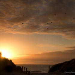 zonsondergang over Ameland