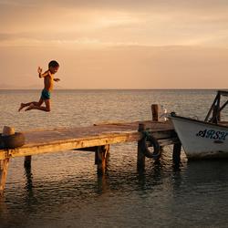 Jump for joy - Isla de Coche, Venezuela