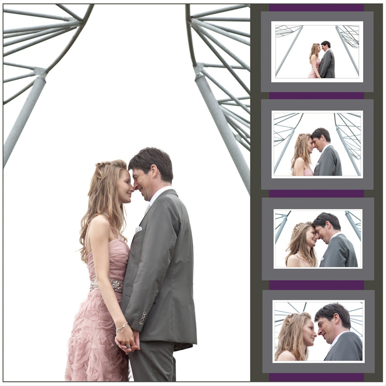 huwelijkscollage - afmeting 45x45