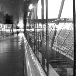 Station in zwart/wit