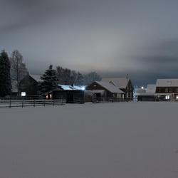 ons landgoed in de sneeuw