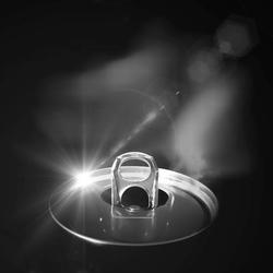 Spot light in an open can.