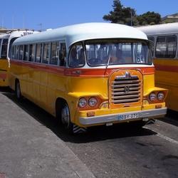 Malta Bussen in de rij