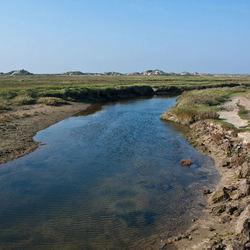 Natuurgebied Slufter op Texel.