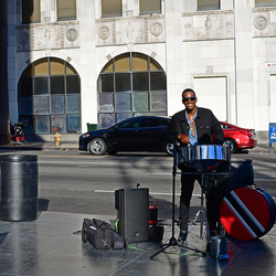 LA,street music