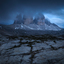 Blauwe uur in de Dolomieten