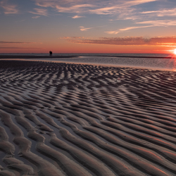 Zonsondergang op Maasvlakte strand