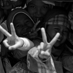 Jeugd in Bandung, Indonesië