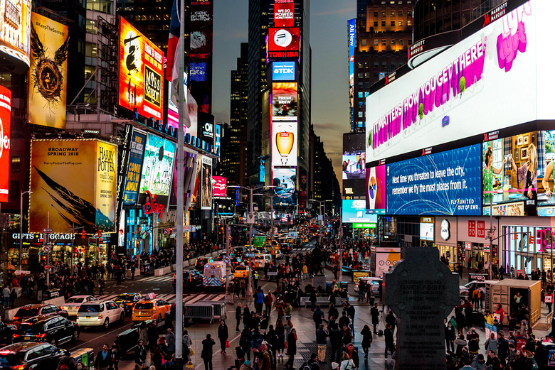 Time Square rush hour