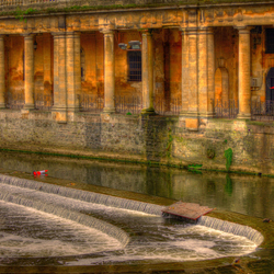 A weir,,,shot in the city Bath..UK._01
