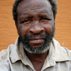 Portret van een Mosotho man