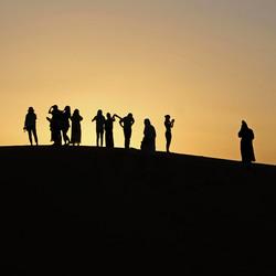 zonsondergang in de Sahara