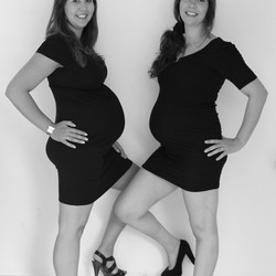 Sweet pregnant sisters