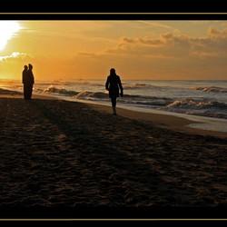 Walking to sunshine