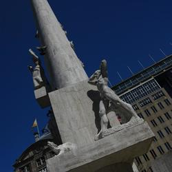 Monument in blue