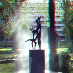 Parque de Malaga Spain 3D