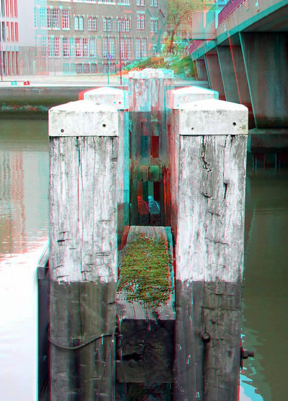Duckdalf Wijnhaven Rotterdam 3D - Duckdalf Wijnhaven<br /> anaglyph stereo red/cyan