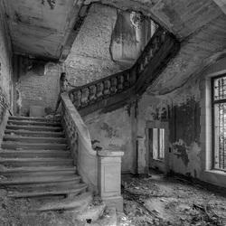 Stairway to heaven (zwart-wit)