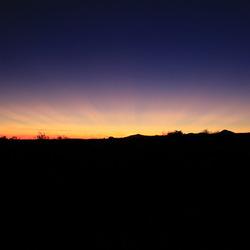 Zonsondergang Mesa Verde