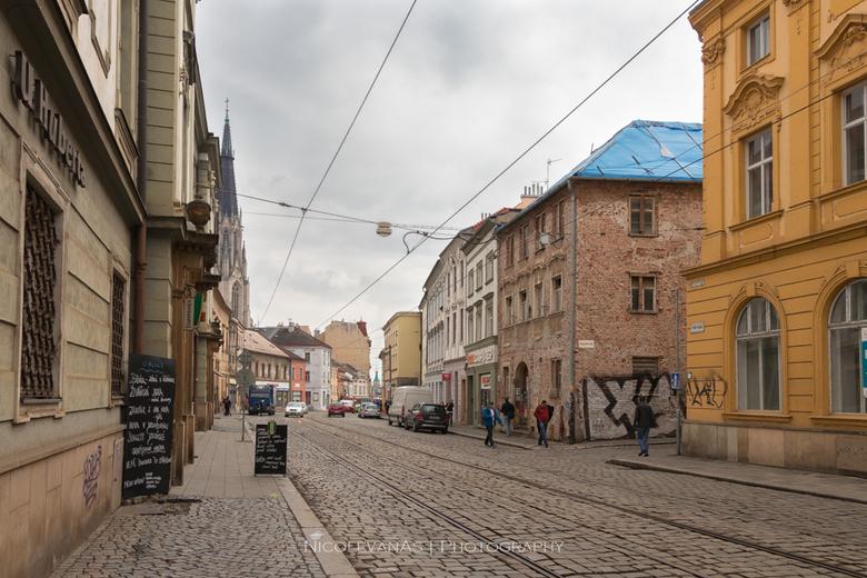 Big city 3 - Olomouc Tsjechie, naast Praag een van de mooiste oude steden van Tsjechie.<br /> Door het gehele centrum ligt een oude trambaan.