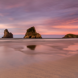 Wharariki beach Sunset