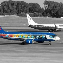 Smurf het vliegtuig