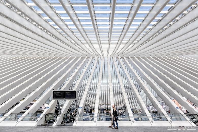 It's all about symmetry - Fascinerende ruimte, op station Luik