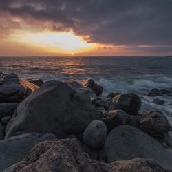 zonsondergang Puerto Naos (La Palma)