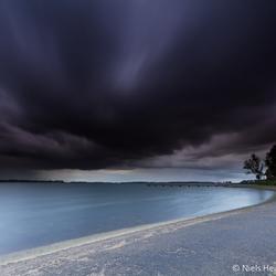 Heavy clouds over Veerse Meer