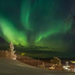 Aurora Borealis onverwachts op de piste