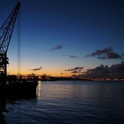 Auckland harbour in Twilight
