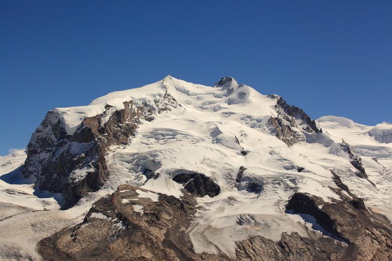 Monte Rosa, de hoogste top in Zwitserland