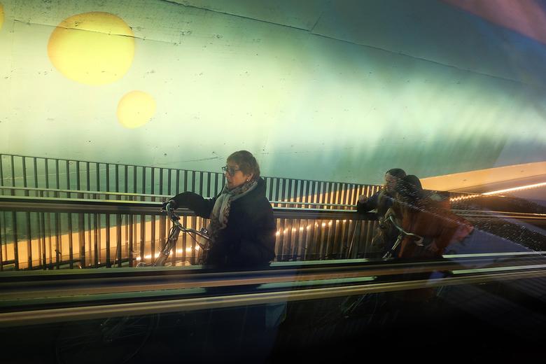 In the tube -