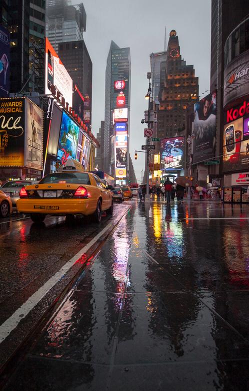 Verregend New York City -
