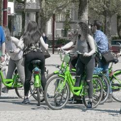 Green bikes.
