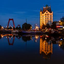 Een mooie avond (Oude Haven Rotterdam (bewerkt))