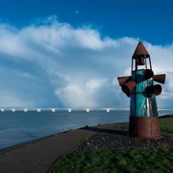 Monument van de verdronken dorpen in Zeeland.