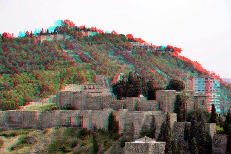Alcazaba Malaga 3D - Alcazaba Malaga 3D hyperstereo<br /> anaglyph stereo red/cyan