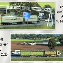 collage   Zwolle   A28 avond en ochtendsfeer 16 en 17 sept 2020