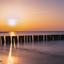 Zonsondergang Rostock Strand