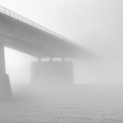 A misty bridge