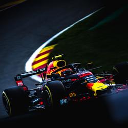 max verstappen tijdens de gp van Belgie op spa francorchamps sport F1