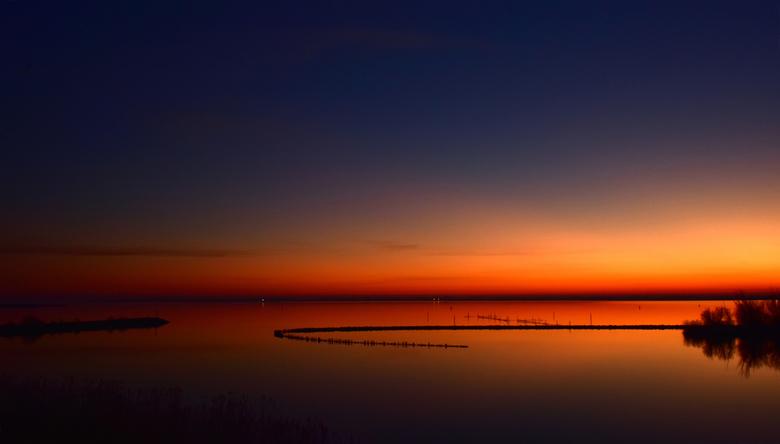 Lauwersoog - zonsondergang.