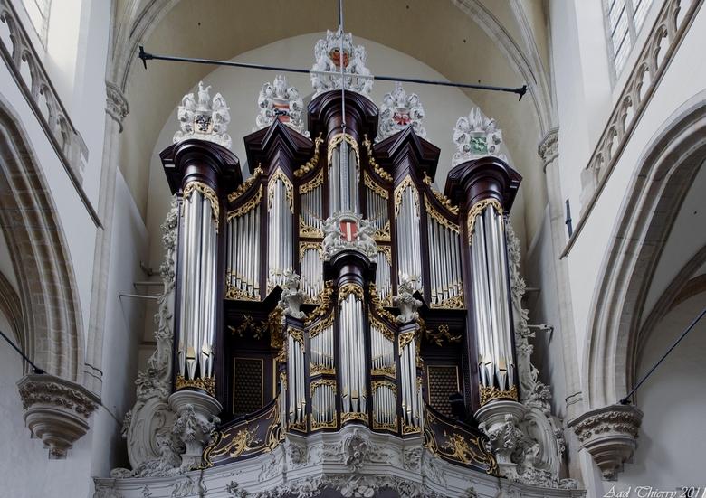 Orgel Grote Kerk Dordrecht - Gisteren de Grote Kerk in Dordrecht <br /> bezocht  ,ik ben er vaak langs gegaan  dit is de eerste keer dat ik hem van b
