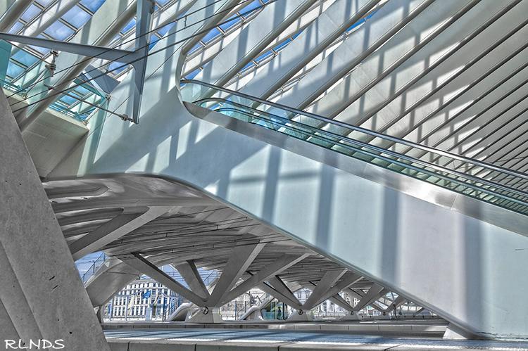 Roltrap - Station Guillemins - Luik