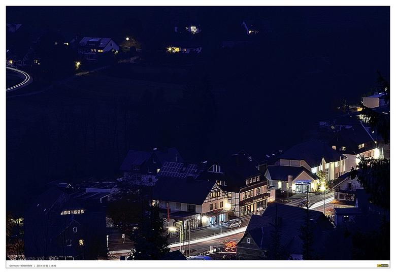 Niedersfeld - Sauerland 2#3 - Serie foto's gemaakt op een mooie herfst namiddag gemaakt vanaf het balkon van een hooggelegen appartement van het