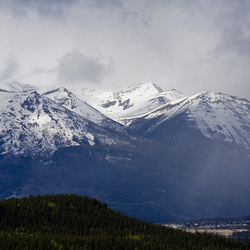 Jasper town & Surrounding mountains