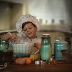 Baking cookies...