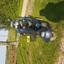 Mijn scootmobiel in het gras
